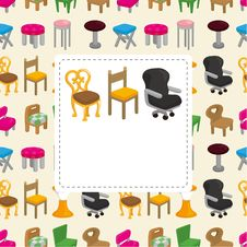 Free Cartoon Chair Furniture Card Royalty Free Stock Images - 20973939