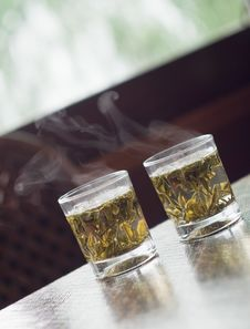 Free Glass Of Chinese Green Tea Stock Photos - 20974123