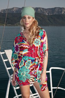 Free Pretty Blong On The Yacht Stock Photos - 20974363