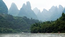 Free Traveling People Through Valley Of Li River Royalty Free Stock Photo - 20974635