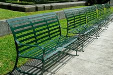 Free Steel Chair In Park Royalty Free Stock Photography - 20974697