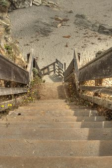 Stairs Down To The Beach Royalty Free Stock Image