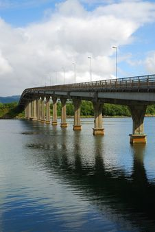 Free Road Bridge Over The Fjord. Royalty Free Stock Images - 20975629