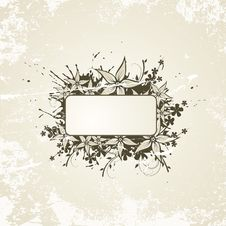 Floral Design. Vector Illustration Royalty Free Stock Photography