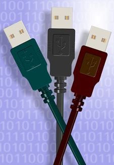 USB Cables Stock Photo
