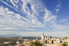 Free Girona S Cathedral With A Great Sky Stock Photography - 20976062
