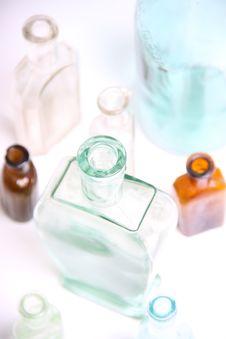 Vintage Glass Bottles Stock Images