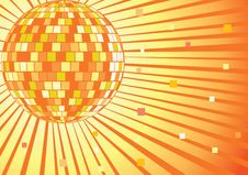 Free Disco Mirror Ball. Vector Illustration. Royalty Free Stock Image - 20977536