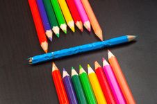 Free Monster Made Out Of Pencils Royalty Free Stock Photos - 20977788