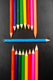 Free Photo Of Some Pencils Representing A Mouth Royalty Free Stock Photo - 20977795