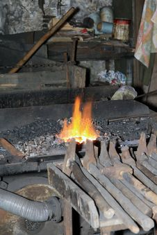 Free Blacksmith´s Fire Royalty Free Stock Photography - 20977827