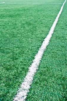 Fake Grass Soccer Field Stock Image