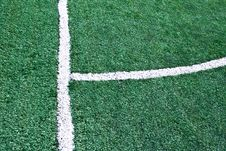 Fake Grass Soccer Field Stock Photo