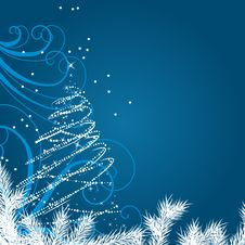 Free Christmas Background With Stylized Christmas Tree Royalty Free Stock Photography - 20979197