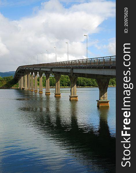 Road bridge over the fjord.
