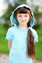 Free Outdoor Portrait Of Cute Child Girl In Blue Jacket Stock Images - 20980854
