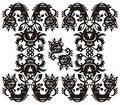 Free Decorative Floral Pattern Black Royalty Free Stock Photos - 20982488