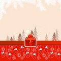 Free Christmas Card With Hanging Santa Socks Stock Photos - 20987403