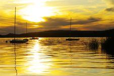 Free Sailboats At Sunset Royalty Free Stock Photography - 20980267