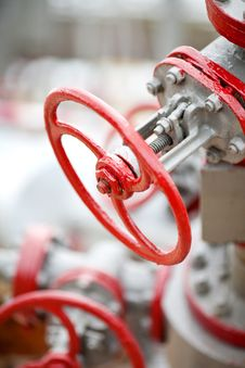 Free Red Valves At The Plant Royalty Free Stock Photo - 20980515