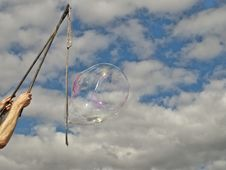 Free Festival Bubble Blowing Against Sky Royalty Free Stock Photography - 20980567