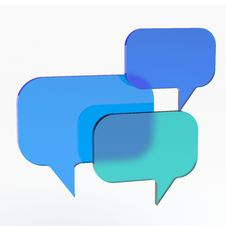 Abstract Empty Speech Bubble From Glass. Stock Image