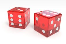 Free Red Dices Stock Photography - 20980632