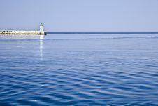 Free Sea Breaker And Ligthouse Croatia Stock Photography - 20980642