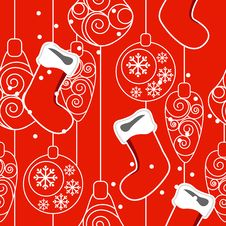 Free Seamless Christmas Pattern Royalty Free Stock Images - 20980979