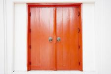 Free Old Thai Door With Single Traditional Royalty Free Stock Image - 20981116