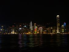 Free Hong Kong In Night Time Stock Images - 20981444