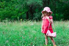 Beautiful Girl In The Meadow Stock Photography