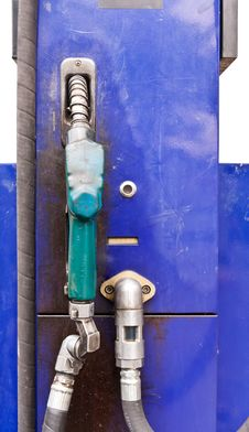 Free Blue Dispensing Fuel Stock Photography - 20981782