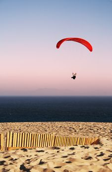 Free Paraglider On The Beach Royalty Free Stock Images - 20981879