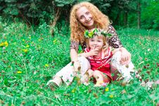 Free Beautiful Girl With Mother In The Meadow Stock Photos - 20982133