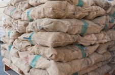 Free Pile Of Sacks Tilted Royalty Free Stock Images - 20982359