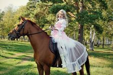 Free Princess On The Horse Stock Images - 20982834