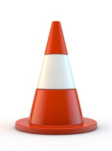 Free Red Traffic Cone Stock Photography - 20982862