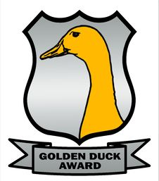Free Cricket Golden Duck Award Shield Royalty Free Stock Image - 20983126
