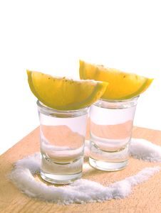 Free Tequila With Lemon And Salt Royalty Free Stock Photography - 20983377