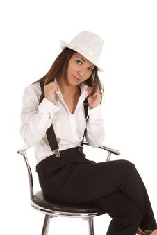 Gangster Sitting Hold Shirt Stock Images