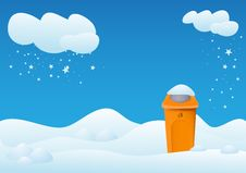 Free Winter Landscape With Bin Stock Photo - 20983850