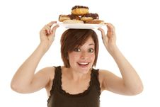 Free Happy Plate On Head Royalty Free Stock Photos - 20983868