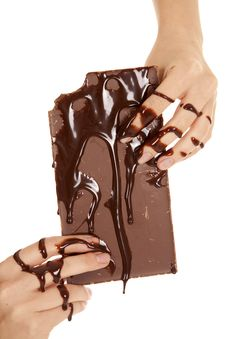 Free Hands Covered In Chocolate Royalty Free Stock Images - 20984319