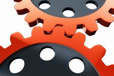 Free Red Gear Wheels Stock Image - 20984571