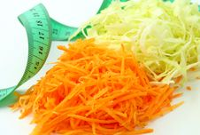 Free A Salad Of Carrots And Cabbage Stock Images - 20984694