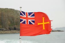 Guernsey Maritime Flag Stock Photos