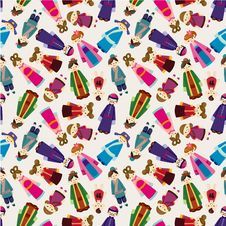 Free Cartoon Chinese People Seamlese Pattern Royalty Free Stock Photography - 20986727