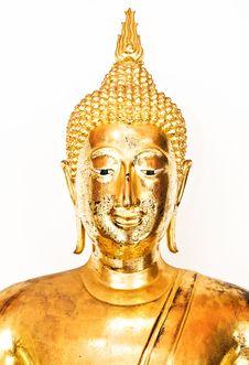 Free Buddha Head On White Royalty Free Stock Photo - 20986785