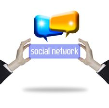 Free Hands With Social Network Stock Photos - 20987163